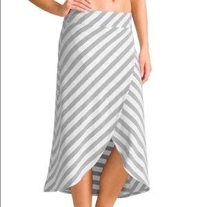 Athleta Steiped Wrap Skirt